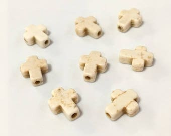 X 2 cross beads 10x8mm ❤ ❤
