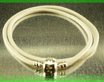 love double bracelet for European leather N85 Pearl 38cm charms