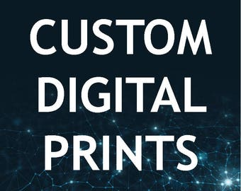 Custom Digital Art Prints on Black Foam Board