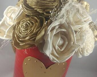 Sola Wood Flower Valentine Arrangement | Valentine Flowers | Valentine's Day Decor |  Valentine's Day Gift | Valentine's Day Flowers