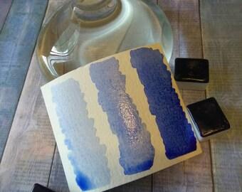 Ultramarine Blue Handmade Watercolor