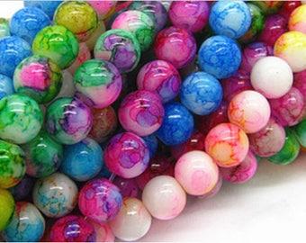 70 mix 8mm glass beads