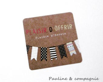 "Set of 25 labels stickers vintage ""pleasure of giving"""