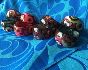 Sparkly, heavy, chunky bangles, multicoloured