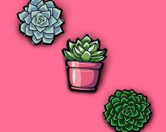 Succulent Pin | Plant Brooch | Nature | Cactus | Succulents