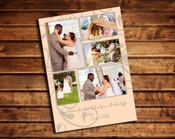 Customizable Wedding Photo Thank You Card digital download printable - 5x7