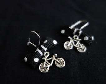 Bows bicycle charm earrings