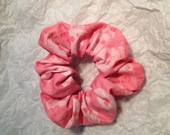 Scrunchie geekly chic skull pink by riley blake