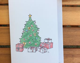 card greeting Christmas and holiday year