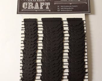 Garland of mini black flags - 3 m - embellishments - scrapbooking