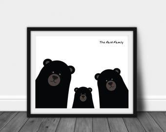 Personalized Family Home Print   Family Printable   Bear Print   Wall Art   Home Decor   Wall Decor   Bear Printable   Custom Family Print