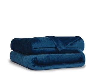 Effortless Bedding Patented Plush Semi Fitted Bed Blanket