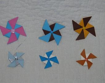 Entirely handmade paper pinwheels