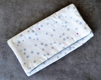 Changing pad Nomad grey and purple stars
