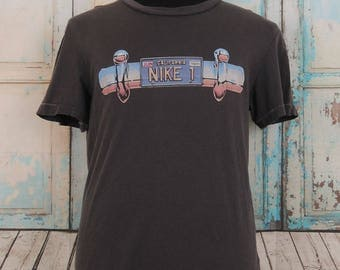 Vintage NIKE T-Shirt, Sportswear Top Tee, Size L, Made in China