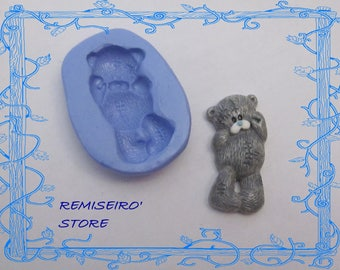 Mold plush teddy bear 3.1 cm silicone