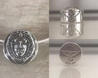 Charm of the Virgin of the Rocío in sterling silver