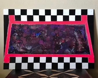 Galaxy Painting, Mixed Media Painting, Spray Painting