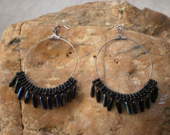 ROMANTIC STYLE HOOP EARRINGS