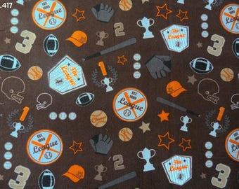 Fabric C417 corduroy baseball coupon 35x50cm