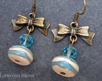 Earrings - the - striped bows