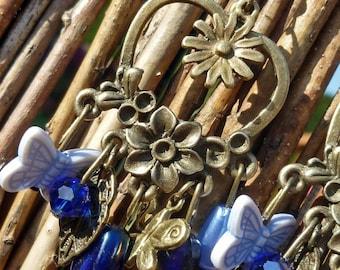 Boucles d'oreilles - Bronze - Coeur de fleur