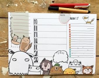 Weekly planner A4/desk Mat