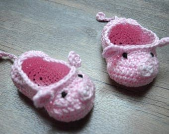 Baby shoes baby piglet