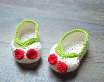 Shoes with cherry for baby girl
