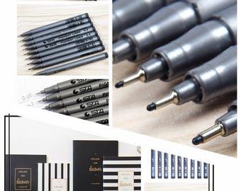 Sketch Markers, Art Marker Set, Fine Liner Pens, Fine Liner Marker, Manga Pens, Micron, Pen Gift Set, Pen Gifts, Drafting Pens, Sketch Pens