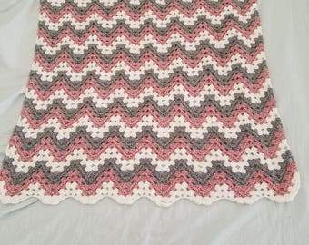Granny Stripe Chevron Baby Throw Blanket