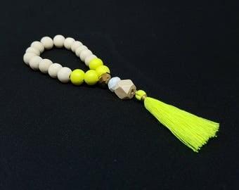 BIANCA yellow boho bracelet