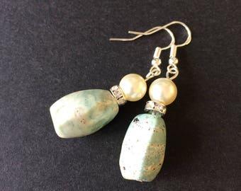 Handmade Earrings with Vintage Beads