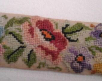 embroidered colorful chiffon Ribbon.