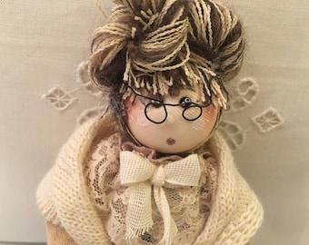 Handmade cloth doll.