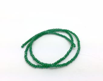 200 donuts beads faceted rondelle glass 3mm Green for creations of jewels