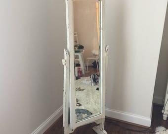 Vintage White Full Length Mirror