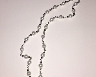 Pearl stacking necklace