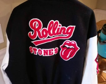 Men's Rare The Rolling Stone Crew Bomber Jacket Size XL