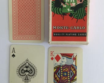 Monte-Carlo, quality playing cards. Red back.