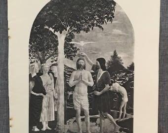 Francesca. The Baptism. 1920's antique print