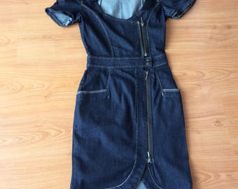Mango jean dress secondhand