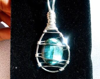 Labradorite | | wirewrap | | necklace | | healing | | pendant