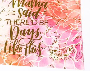 Floral Watercolor and Gold Foil Greeting Cards With Gold Foil Lined Envelopes, The Best Grandma, Courage Is Grace-Under-Pressure, You Don't