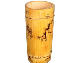 home decor, vases, vase, bamboo, unique, urban, industrial, contemporary, wood,flower