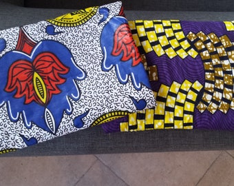 padded laptop pouch in African fabric