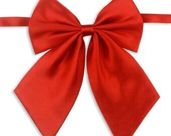 Unisex red bowtie