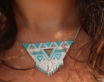 Choker necklace with Miyuki beads
