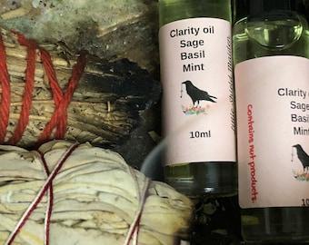 Clarity oil ( Sage, mint, Basil )