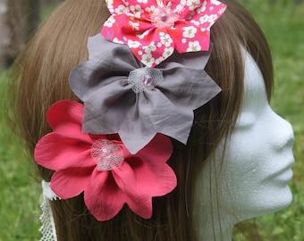 Romantic headband for weddings and ceremonies